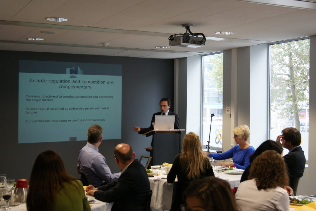 """EU Committee Business Lunch with Michele Piergiovanni, Case Manager, Unit C5, DG Competititon, European Commission – """"ICT Services and Digital Media – the application of ex-ante and ex-post rules to drive competition in the Internal and Global Market"""""""