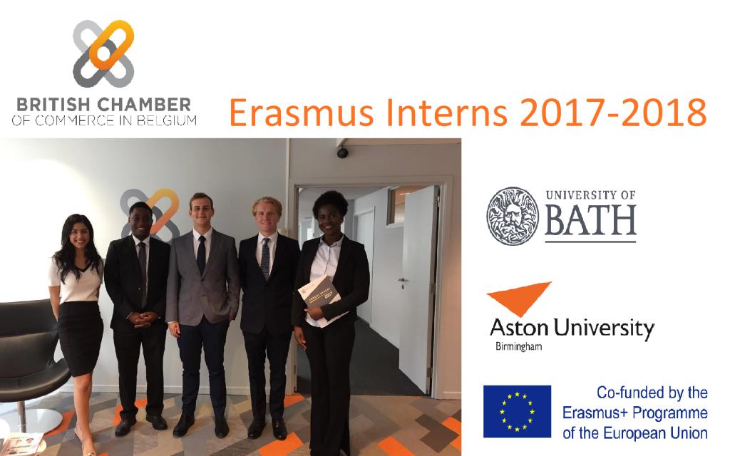New Erasmus interns arrive at the British Chamber 2017-2018